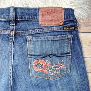 Lucky Brand | Straight Leg Embroidered Jeans